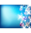 Blue Christmas Background with Christmas ornaments vector image vector image