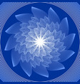 blue circle mandala in optical art style for vector image vector image