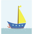 boat floating in the sea vector image