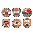 bowling club sport game icons vector image vector image