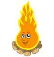 cartoon camp fire vector image