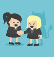 Cartoons concepts Businesswoman shaking hand with vector image vector image