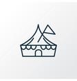 circus icon line symbol premium quality isolated vector image vector image