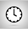 clock face showing 4-00 simple black icon on vector image vector image