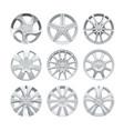 close up rims car alloy wheel aluminum wheel vector image