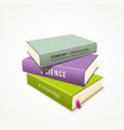 Colorful Books stack vector image