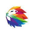 colorful creative lion head logo vector image