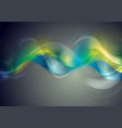 colorful glossy blurred waves background vector image vector image