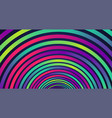 colorful neon circles background vector image vector image