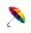 colorful umbrella isolated vector image vector image