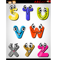 comic letters alphabet cartoon vector image vector image