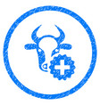 cow create rounded grainy icon vector image vector image
