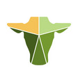 cow head combined with statistic logo vector image vector image