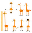 cute giraffe characters set vector image vector image
