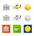 design bank and money logo set bank vector image