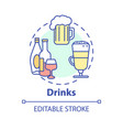 drinks concept icon vector image