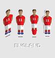 England Soccer Team Sportswear Template vector image vector image