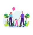 family spending time together vector image vector image