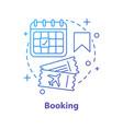 flight tickets buying concept icon vector image vector image