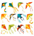 flying kite wind fun toy fly solated joy vector image