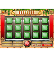 Game template with brickwall background vector image
