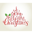 Hand drawn Cristmas card vector image vector image