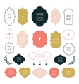 Hand drawn design elements collection Label tag vector image vector image