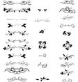 Hand Drawn set Flourishes accent text Brackets vector image vector image
