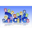 Happy New Year card with monkey vector image vector image