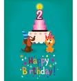 Happy Second Birthday vector image vector image