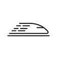 High speed train icon concept for design vector image vector image