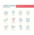Home repair line design icons set vector image