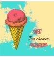 Ice cream hand drawn vector image
