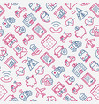 insurance seamless pattern vector image vector image