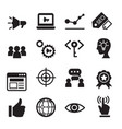 internet marketing icon set vector image vector image