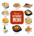 korean cuisine traditional dishes flat vector image vector image