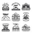 labels set for travelers club monochrome vector image vector image