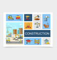 linear construction elements collection vector image vector image