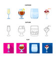 liquor and restaurant vector image vector image
