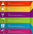 Modern flat infographic template vector image
