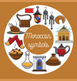 moroccan symbols promo poster with country vector image