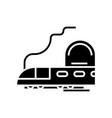 mountain train black icon concept vector image vector image