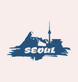 namsan tower in seoul icon vector image