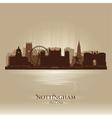 Nottingham England skyline city silhouette vector image vector image