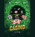 online casino black and red c vector image vector image