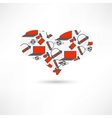 pattern heart electronics vector image