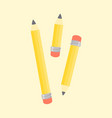 pencils stationary school supplies vector image vector image