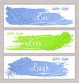 printable banners with hand drawn feathers with vector image vector image