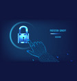 protection cybersecurity security services vector image
