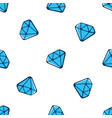 seamless pattern with falling blue diamonds vector image vector image